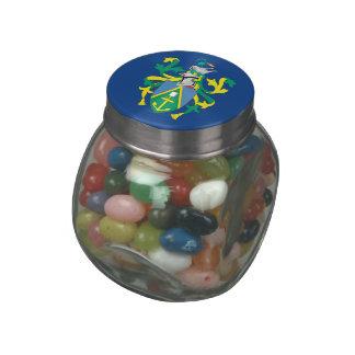 Pitcairn Islands Glass Candy Jars