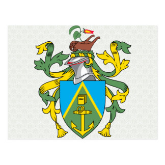 Pitcairn Islands Coat of Arms detail Postcard
