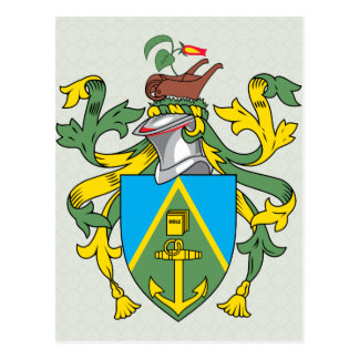 Pitcairn Islands Coat of Arms detail Postcards
