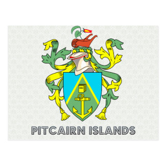 Pitcairn Islands Coat of Arms Post Card