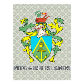 Pitcairn Islands Coat of Arms Postcards