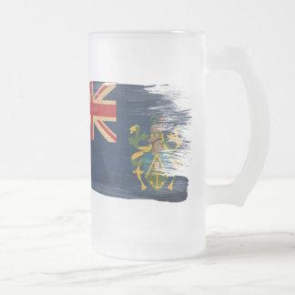 Pitcairn Islands Flag Frosted Glass Beer Mug
