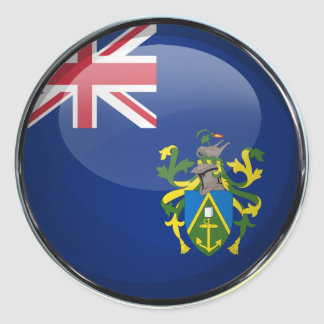 Pitcairn Islands Flag Glass Ball Classic Round Sticker