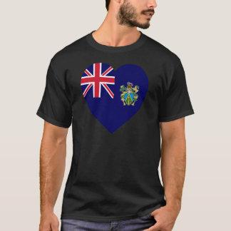 Pitcairn Islands Flag Heart T-Shirt