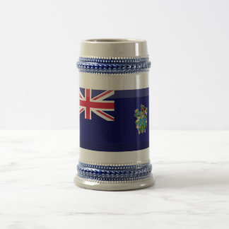 Pitcairn Islands Flag Jewel Beer Stein