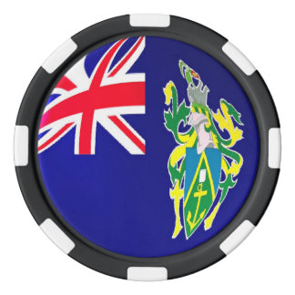 Pitcairn Islands flag Poker Chip Set