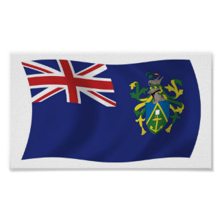 Pitcairn Islands Flag Poster Print