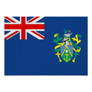 Pitcairn Islands Flag Posters