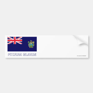 Pitcairn Islands Flag with Name Bumper Sticker