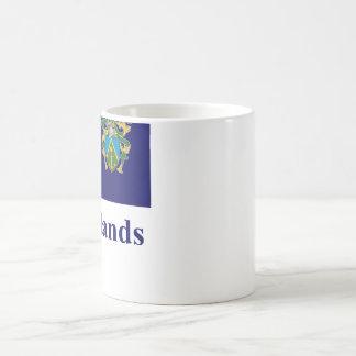 Pitcairn Islands Flag with Name Classic White Coffee Mug