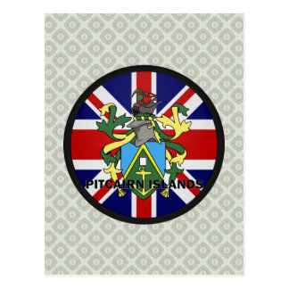 Pitcairn Islands Roundel quality Flag Postcard