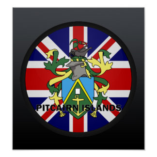 Pitcairn Islands Roundel quality Flag Poster