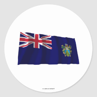 Pitcairn Islands Waving Flag Classic Round Sticker