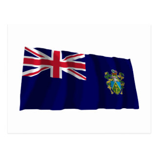 Pitcairn Islands Waving Flag Postcard