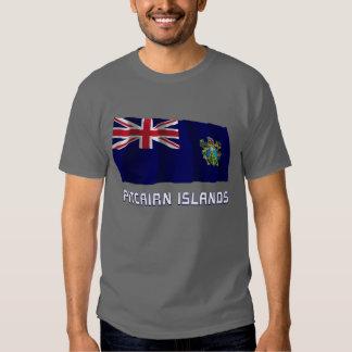 Pitcairn Islands Waving Flag with Name Shirt