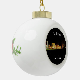 Pitcairn,Pa-Photo-Ceramic-Holiday-Ornament Ceramic Ball Christmas Ornament