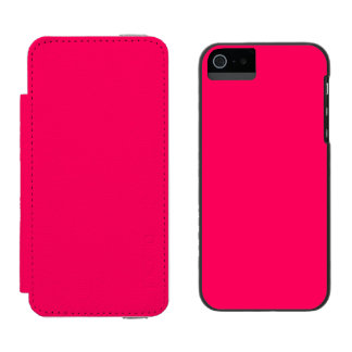 Pitcairn Pink-Rose-Hot Pink-Tropical Pink iPhone SE/5/5s Wallet Case