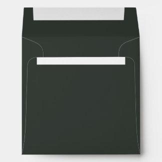 Pitch Dark Forest Green Envelope