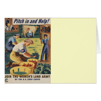 Pitch in and Help Join the Women's Land Army Greeting Cards