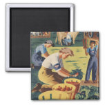 Pitch in and Help Join the Women's Land Army 2 Inch Square Magnet