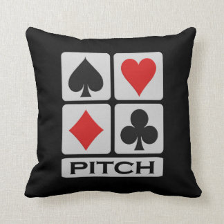 Pitch Player throw pillow