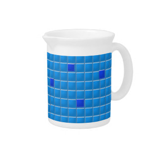 Pitcher - Blue Square Mosaic