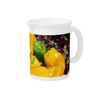 Pitcher - Bright Colored Peppers