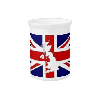 Pitcher British Flag Red White Blue by creativeconceptss at Zazzle