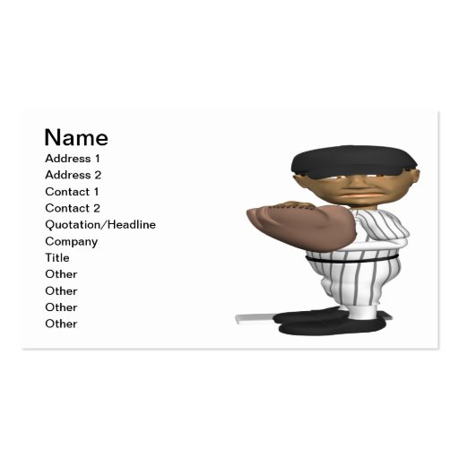 Pitcher Business Card Template