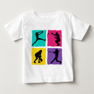 pitcher, catcher, batter, fielder, 4xbright baby T-Shirt