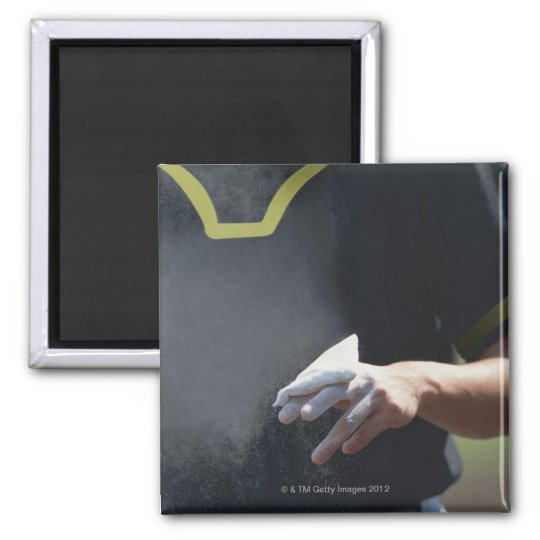 Pitcher Holding Chalk Pouch Magnet