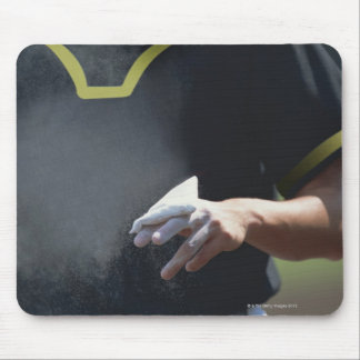 Pitcher Holding Chalk Pouch Mouse Pad