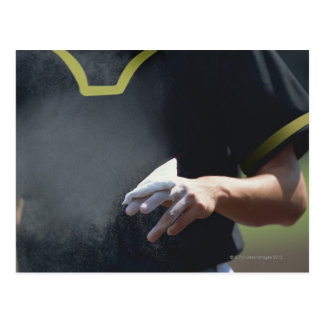 Pitcher Holding Chalk Pouch Post Card