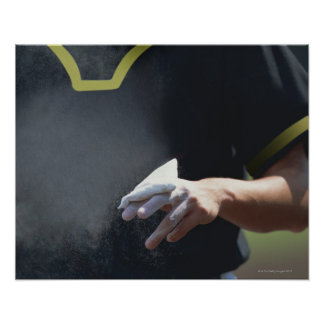 Pitcher Holding Chalk Pouch Poster