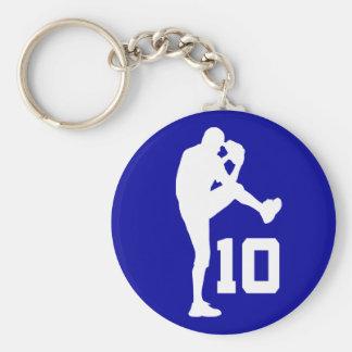 Pitcher Jersey Number 10 Baseball Sports Gift Basic Round Button Keychain
