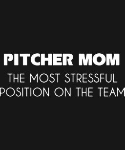 50c32f45 pitcher mom the most stressful position on the tea T-Shirt