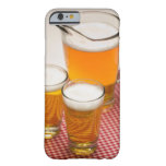 Pitcher of beer and two glasses filled with beer barely there iPhone 6 case