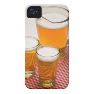 Pitcher of beer and two glasses filled with beer iPhone 4 case