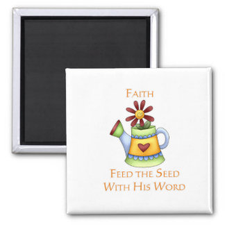 Pitcher of Faith 2 Inch Square Magnet