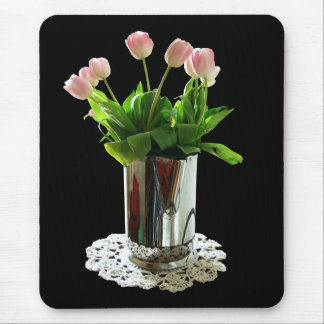 Pitcher of Pink Tulips Mouse Pad
