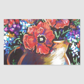 pitcher of poppies stickers