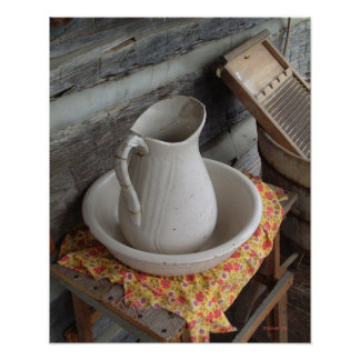 Pitcher on the Porch Poster