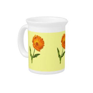 Pitcher – Orange Flowers