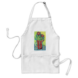 Pitcher Patterns. Flowers in a jug Adult Apron