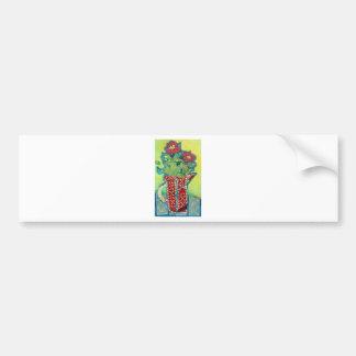 Pitcher Patterns. Flowers in a jug Bumper Sticker
