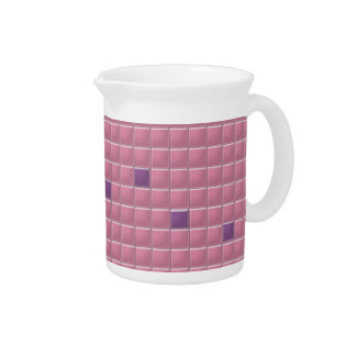 Pitcher - Pink Square Mosaic