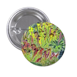 Pitcher plant badge pinback button