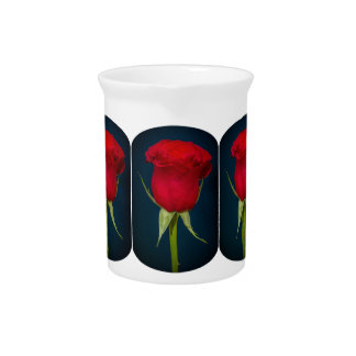 Pitcher red rose image