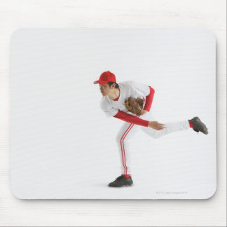 Pitcher Throwing Baseball Mouse Pad