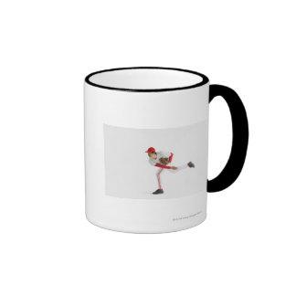 Pitcher Throwing Baseball Ringer Mug